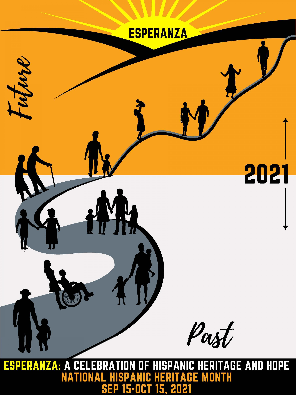 2021 Hispanic Heritage Month Theme poster (photo credit: National Council of Hispanic Employment Program Managers)